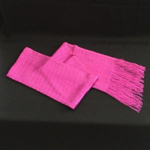 Accessories - Raspberry Wrap with flirty fringe ends.  EUC